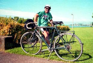 John mein erster Begleiter, ein begeisterter Renn-Radler
