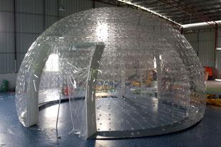 Stand Gonfiabile Cupola Trasparente ad Aria Prigioniera