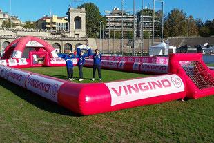 Delimitatore Gonfiabile Campo Calcio, Street Soccer Inflatable Court,  Gonfiabili Sportivi