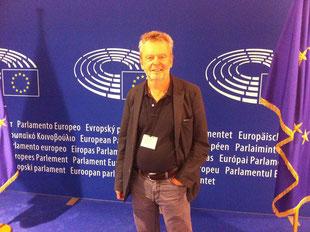 van Veen im Europaparlament in Brüssel