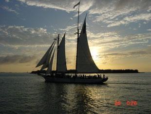 Sonnenuntergang in Florida Key's 2001