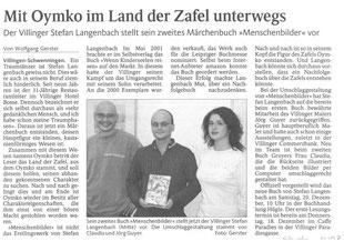 """Pressebericht Schwarzwälder Bote """"Mit Oymko im Land der Zafel unterwegs"""""""
