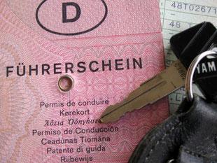 ein Führerschein mit aufgedruckten fremdsprachlicher Übersetzungen