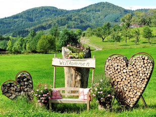 """""""Herzlich willkommen"""" heißt es nicht nur im Glottertal. Foto: Rolf Haid/Archiv"""