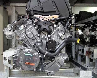 Die KTM-Motoren, wie hier der LC8, werden in Munderfing bei Mattighofen gebaut