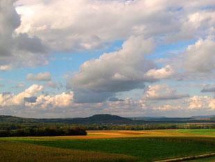 die weite Landschaft vor Epinal