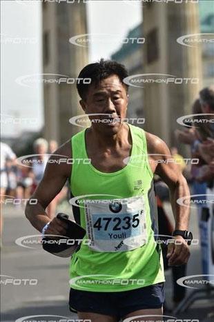 Youli Wang beim Marathon in Berlin 2016. ((c) Marathon-Foto)