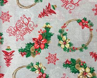 артикул Lazos rojo, скатерть к Новому году, новый год, рождество, новогодние ткани, ткани для праздника