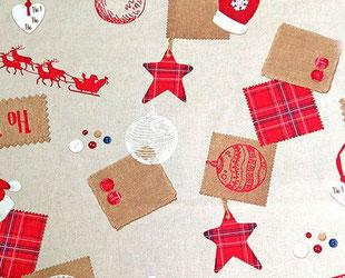 артикул Thermes, скатерть к Новому году, новый год, рождество, новогодние ткани, ткани для праздника