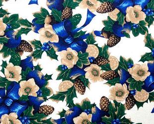 артикул Nadal azul, скатерть к Новому году, новый год, рождество, новогодние ткани, ткани для праздника