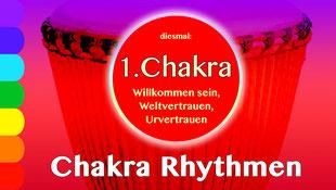 Chakra Rhythmen 1 : Serie  • 9.1.2020 • Donnerstag 19-21Uhr, Trommelschule Yngo Gutmann, Leipzig