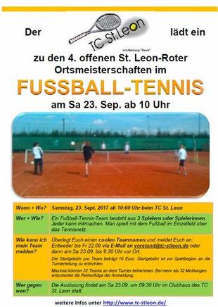 Fleyer zu den Ortsmeisterschaften im Fußball-Tennis 2017