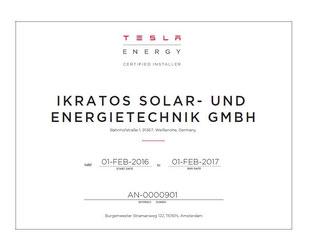 Tesla ikratos Powerwall Speicher Bayern