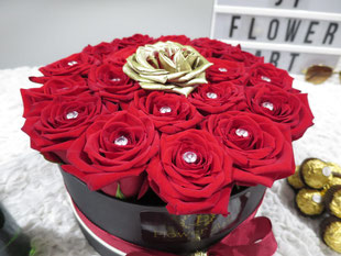 Foto van flower box Red & Gold