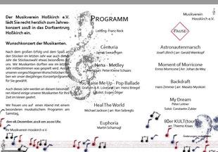 Konzert Programm 2018