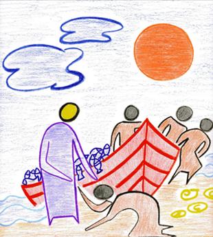 """""""Menschenfischer"""" Thema Erstkommunion 2017"""