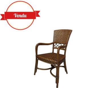 fauteuil rotin,chaise rotin,rotin et métal,vintage,design original,design,ancien,1960