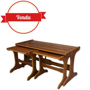 table basse,table basse design,table basse tendance,table basse en teck,tables gigognes,bois,scandinave,1950,1960,vintage