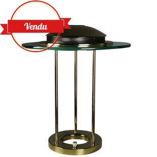 lampe design laiton,lampe décorative laiton vintage,laiton vintage,design,lampe robert sonneman,sonneman, boxford,majdeltier