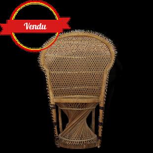 fauteuil,osier,vintage,emmanuelle,rotin,enfant,dossier