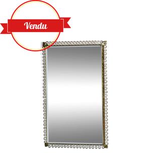 miroir vintage laiton rectangulaire,miroir ancien,miroir doré,miroir designer,miroir josef frank,vintage,miroir rétro