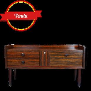 Enfilade basse palissandre 1960, tiroirs, meuble tv,télé, vintage, compas