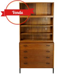 meuble bibliothèque modulable,rangements hauts,commode haute,commode vintage