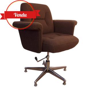 fauteuil de bureau original,fauteuil de bureau vintage,fauteuil de bureau 1970,fauteuil de bureau 1960
