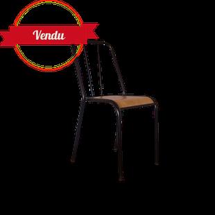 Chaise industrielle, chaise en tole, chaise en tôle, tolix, roméo, strafor