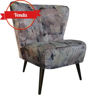 fauteuil cocktail,rétro,1980,design,fauteuil cocktail vintage,vintage,velours,original,confortable,1970,1980