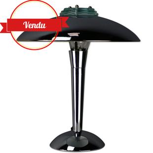 lampe champignon,lampe chromée,bureau,de table,a poser,chromée,chrome,vintage,bauhaus,art deco,rétro,verre,métal