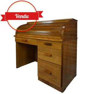 bureau vintage, bureau américain vintage, bois, classeur, bureau, coulissant, 1970, 1980, moderne, tiroirs