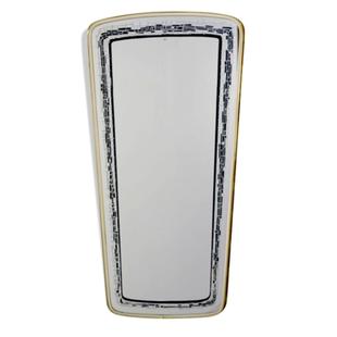 grand miroir rétroviseur,grand miroir vintage,grand miroir graphique,miroir imprimé