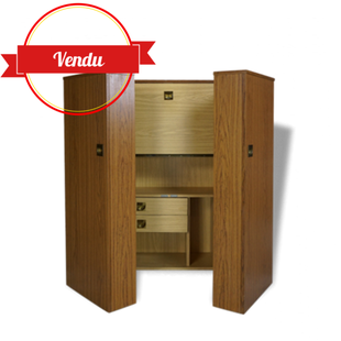 bureau magic box, bureau modulable, bureau gain de place, bureau vintage,escamotable,coffre,cabine,pliant,vintage