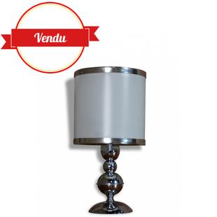 lampe, lampe vintage, 1970, chromée, vintage, petite, rétro, miroir