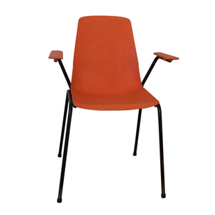 chaise 1970 orange, fauteuil 1970 orange,vintage,bureau,pop,1970,accoudoirs,fauteuil coque,guariche, chair 1970 orange, chaise de bureau orange, chaise coque 70, fauteuil coque 70