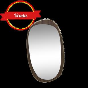 miroir vintage, miroir rétroviseur, sorciére, miroir, vintage , 1950, 1960, laiton, bois