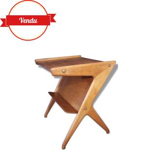 table d'appoint, bureau scandinave,table d'appoint,desserte,scandinave,1950,1960,bois