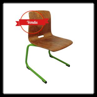 chaises,traineau,luge,vintage,pagwood,pagholz,metal,suspendu,verte,bois,courbé