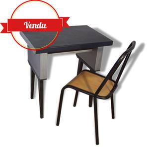 bureau style industriel métal, chaise,industriel, strafor,kremer,ronéo,industriel,metal,1940,1950,1960,loft,petit