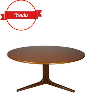table basse scandinave,table basse teck,table basse 1960,table basse 1950,teck,ronde,design,vintage,table basse design