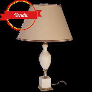 Lampe marbre et laiton, ancienne, vintage, chic