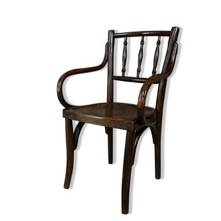 fauteuil bois courbé,fauteuil bistrot,enfant,luterma,1930,années 30,thonet,assise dessinée,gravée,vintage,kids,début du siécle