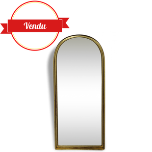 miroir doré, or, doré,en, arcade, vintage, ancien