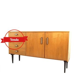Enfilade, basse, scandinave,1950,1960,vintage,buffet,meuble