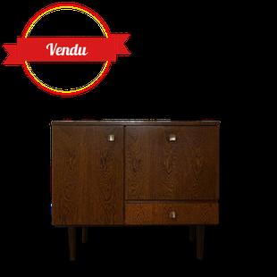 meuble, buffet scandinave, 1950, 1960, vintage, bois, enfilade, compas
