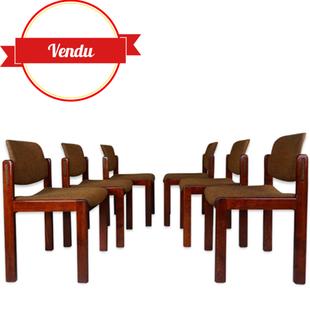 suite de 6 chaises Lubke,chair Lubke,west germany,1960,chaises de salle a manger vintage,originales