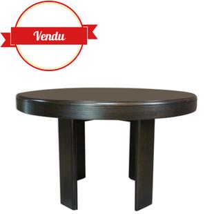 table ronde extensible, design italien, marque former,1970, 1971,modèle euro, pinuccio borgonovo, vintage, made in italy