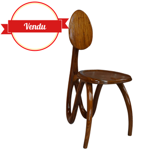chaise organique, design, designer,sculpture,sculpturale,bois,homme,vintage,rare,antropomorphe