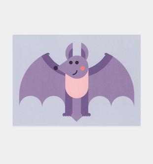 Postkarte Fledermaus für Kinder . Julia Matzke . Illustration . Bilder für Kinder